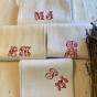 Fyra vackra antika handdukar i linne!