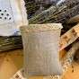 En fin handsydd lavendelpåse i linne med tyllspets. - En handsydd lavendelpåse i linne, spets!