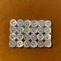 Knappar 24 st, pyttesmå, 0,5 cm i - 24 stycken små pytteknappar