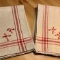 REA! Sex riktiga handvävda handdukar i linne. Oanvända!