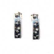 Silver dots - Silverörhängen