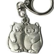 Nyckelring katter - Två glada kisar
