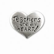 Broschpin till en lärare - Teachers are all heart