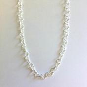 Kedja små silverhjärtan (5 mm) - 70 cm