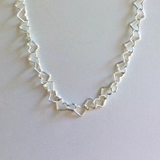 Silverarmband (5 mm) - Hjärtan