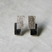 Black and white - Örhängen i silver