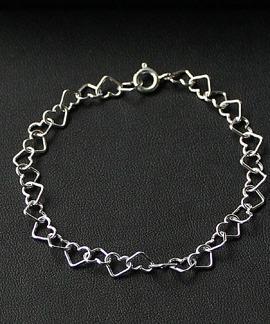 Fotlänk - Silverhjärtan 7 mm