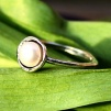 Ava - Silverring med vit pärla