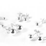 Kulörhängen i silver - 6 mm Säljs styckvis