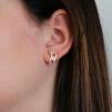 Stilistiska silverkatter, örhängen
