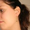 Laura - tvådelade silverörhängen