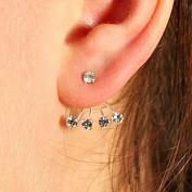 Kira - Silverörhängen med kristaller