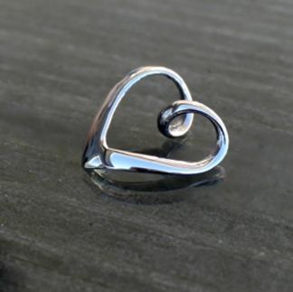 Isa - Hänge silverhjärta