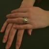 Golden heart - Silverring med guldpläterat hjärta