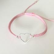 Jessie pink - Armband med hjärta i silver