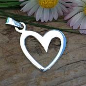 Bianca - Silverhänge med snett hjärta