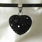 Emmi black - Silverhänge med svarta kristaller