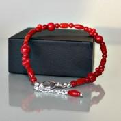 Jill - Armband i röd korall