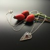 Belinda - Hjärthalsband med röd granat