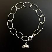 Elly - Twin heart, silverarmband
