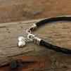 Fiona - Twin heart, läder och silver