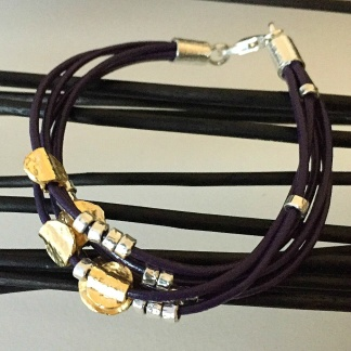 Allyson - grymt snyggt armband i läder och silver