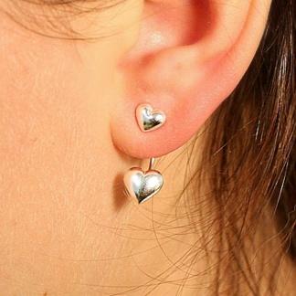 Jasmine - Tvådelade hjärtörhängen