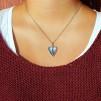 Felicia oxy - Lätt oxiderat silverhjärta