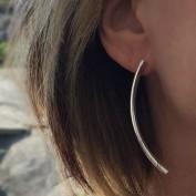 Sally - Långa stilrena silverörhängen