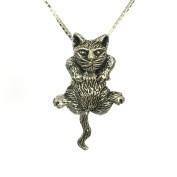 Charmigt och rejält katthänge i silver