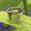 Timjan - Silverring i rå design