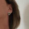 Zinna - Silverörhängen med svartoxid