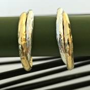 Kelly - Creoler i silver och guld