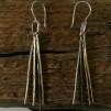 Wanda - Silverörhängen i svart, vitt och guld