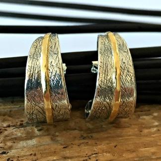 Alexis - Silvercreoler med guldrand