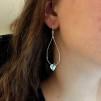 Henna - Rejäla silverörhängen med hjärta