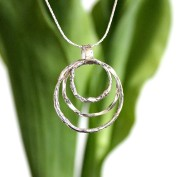Denise - Silverhalsband med tre ringar