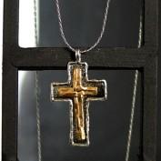 Guldförgyllt kors - Silverhalsband