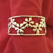 Hedda - Ställbar, blommig silverring