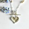 Freja - Silverhalsband med hjärta