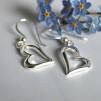Sneda hjärtan - Silverörhängen
