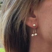 Janina - Tvådelade silverörhängen med kulor