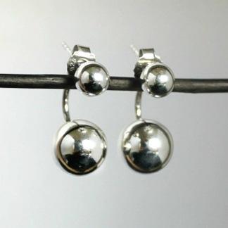 Scilla - Tvådelade kulörhängen i silver