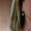 Louise - Creoler med vita pärlor