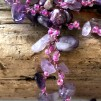 Violet - Långt halsband med ametister och pärlor