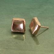 Livia - Silverörhängen med plätering i roséguld
