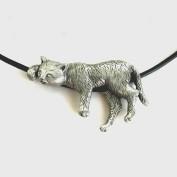 Coola katten - Nu med silverlås på läderband