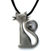 Katt med svanskrumelur, halsband