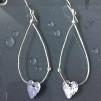 Henna - Silverörhängen med oxiderade hjärtan