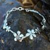 Silver flower - Armband